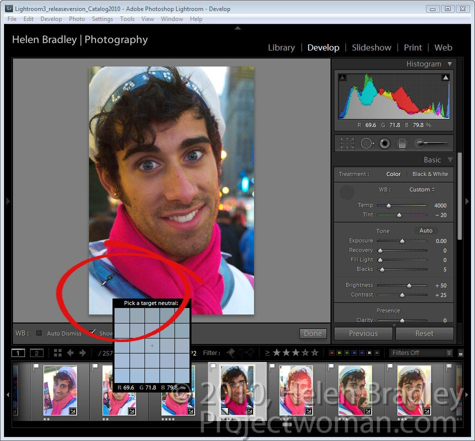 how to add fill light in lightroom